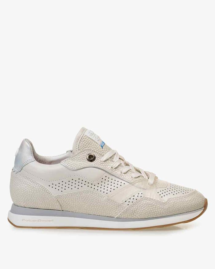 Sneaker geprint leer off-white