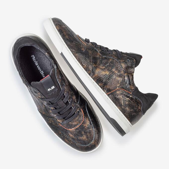 Sneaker snake print copper