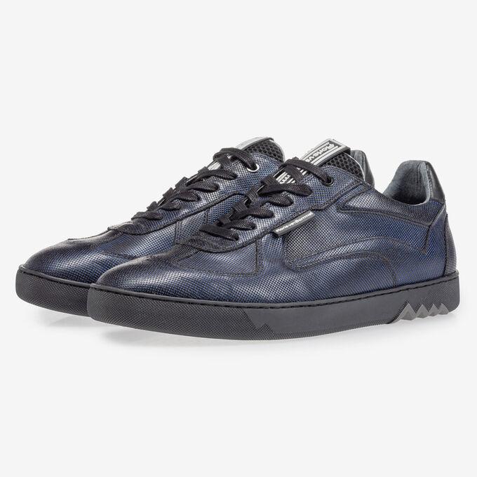 Sneaker dark blue metallic