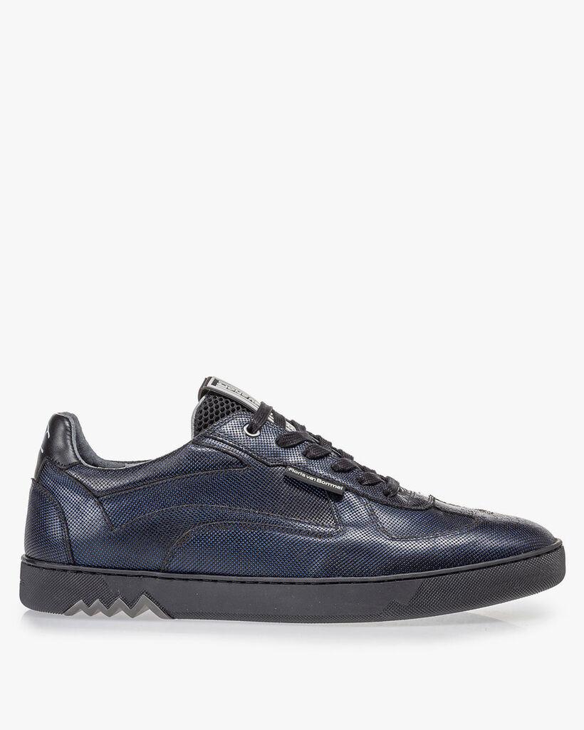 Sneaker donkerblauw metallic