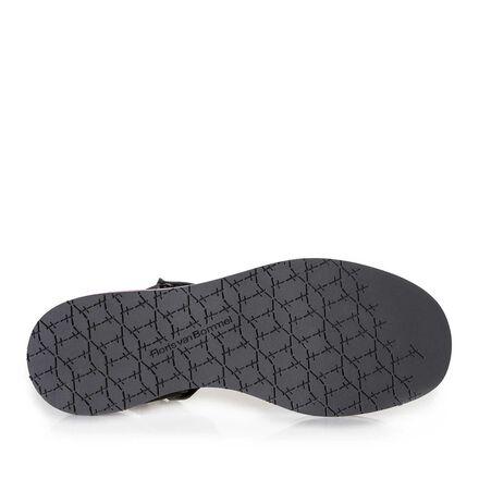 Leren platte sandaal
