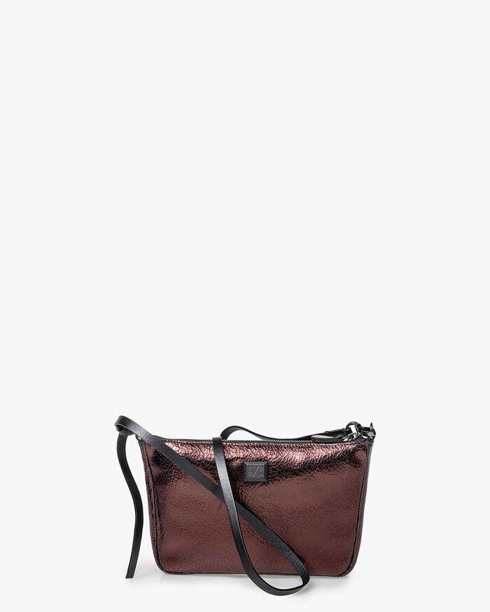 Cross body bag brown leather