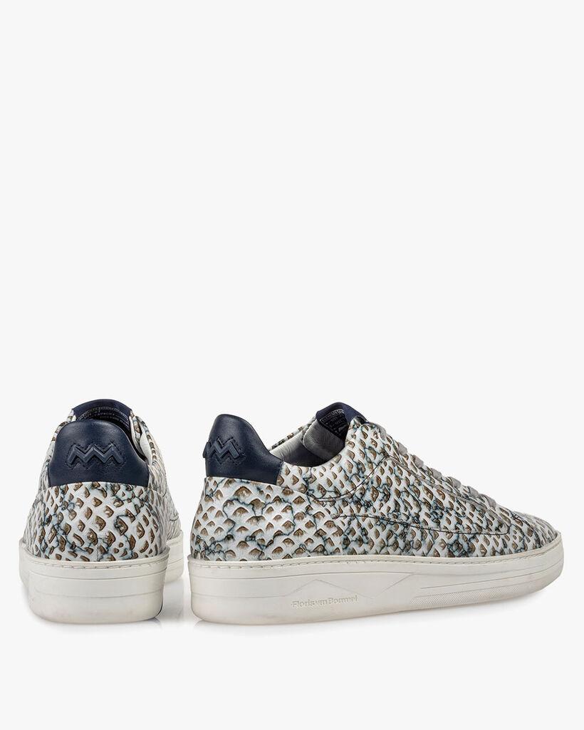 Sneaker geprint leer zand