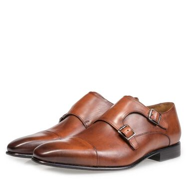 Calf leather monk strap