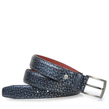 Grey belt metallic print