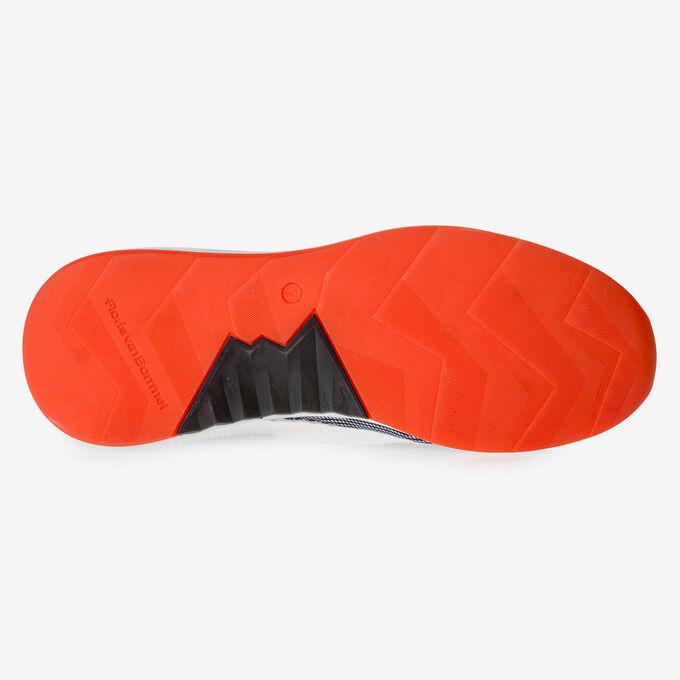 Premium suède sneaker oranje/zwart