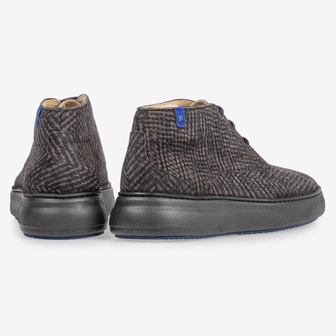 Boot zigzagprint grijs