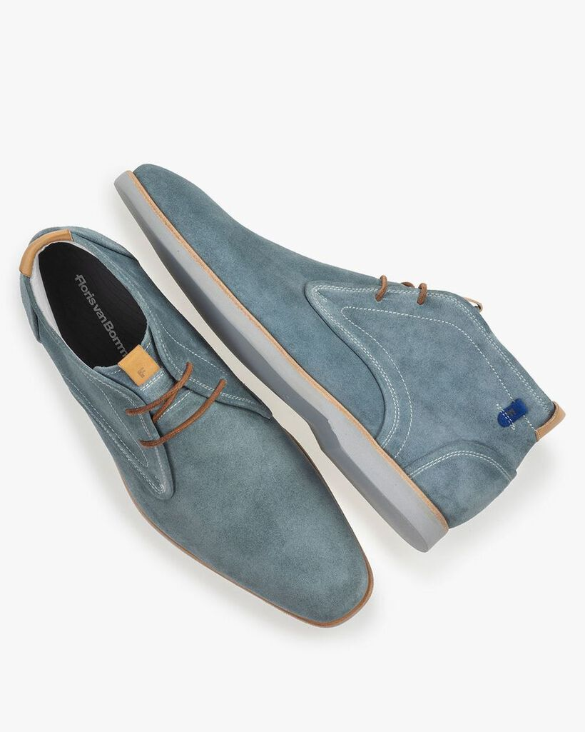 Boot suede leather turquoise