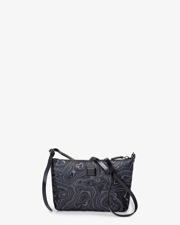 Cross body bag print black