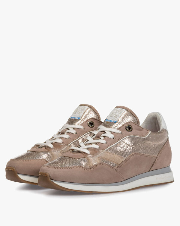 Sneaker nubuck leather beige