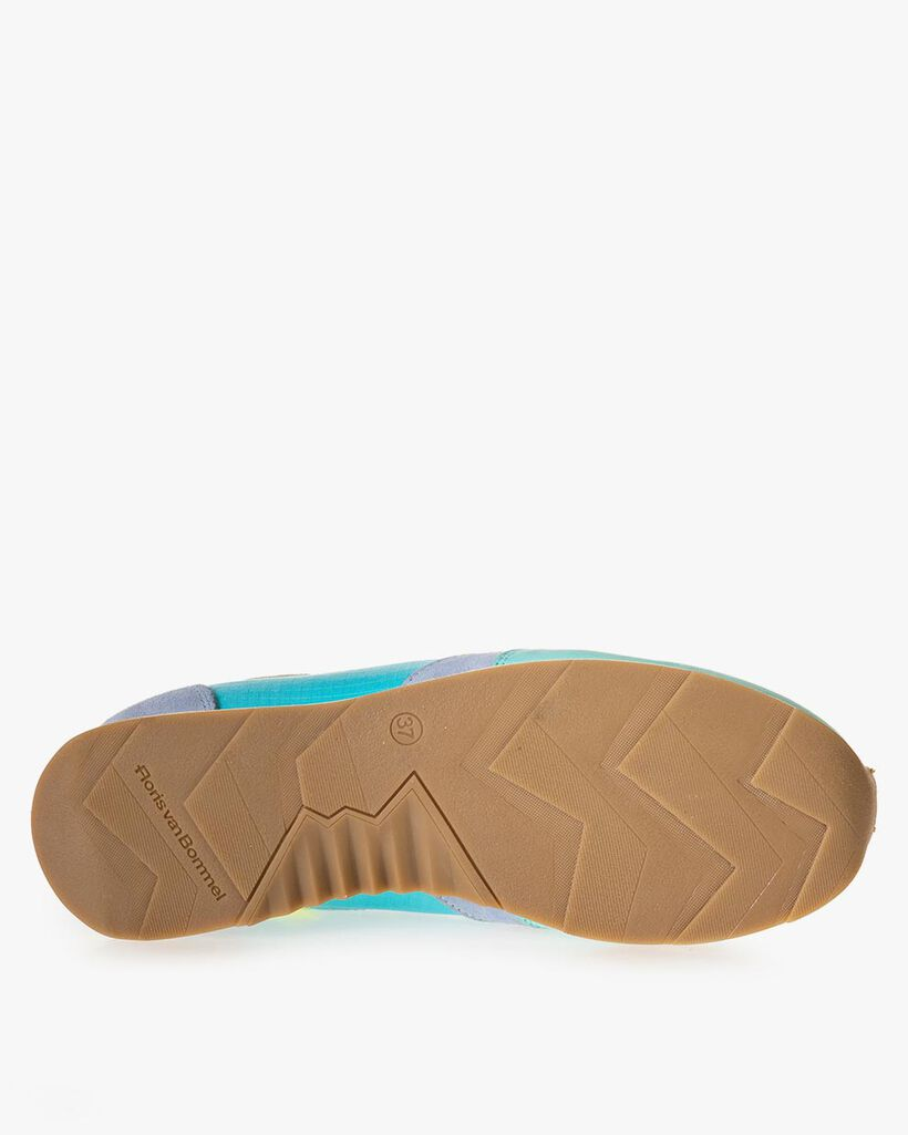 Sneaker nubuckleer blauw