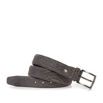 Belt nubuck leather dark grey