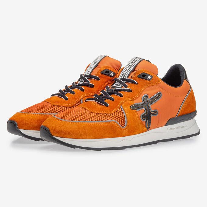 Sneaker oranje suède