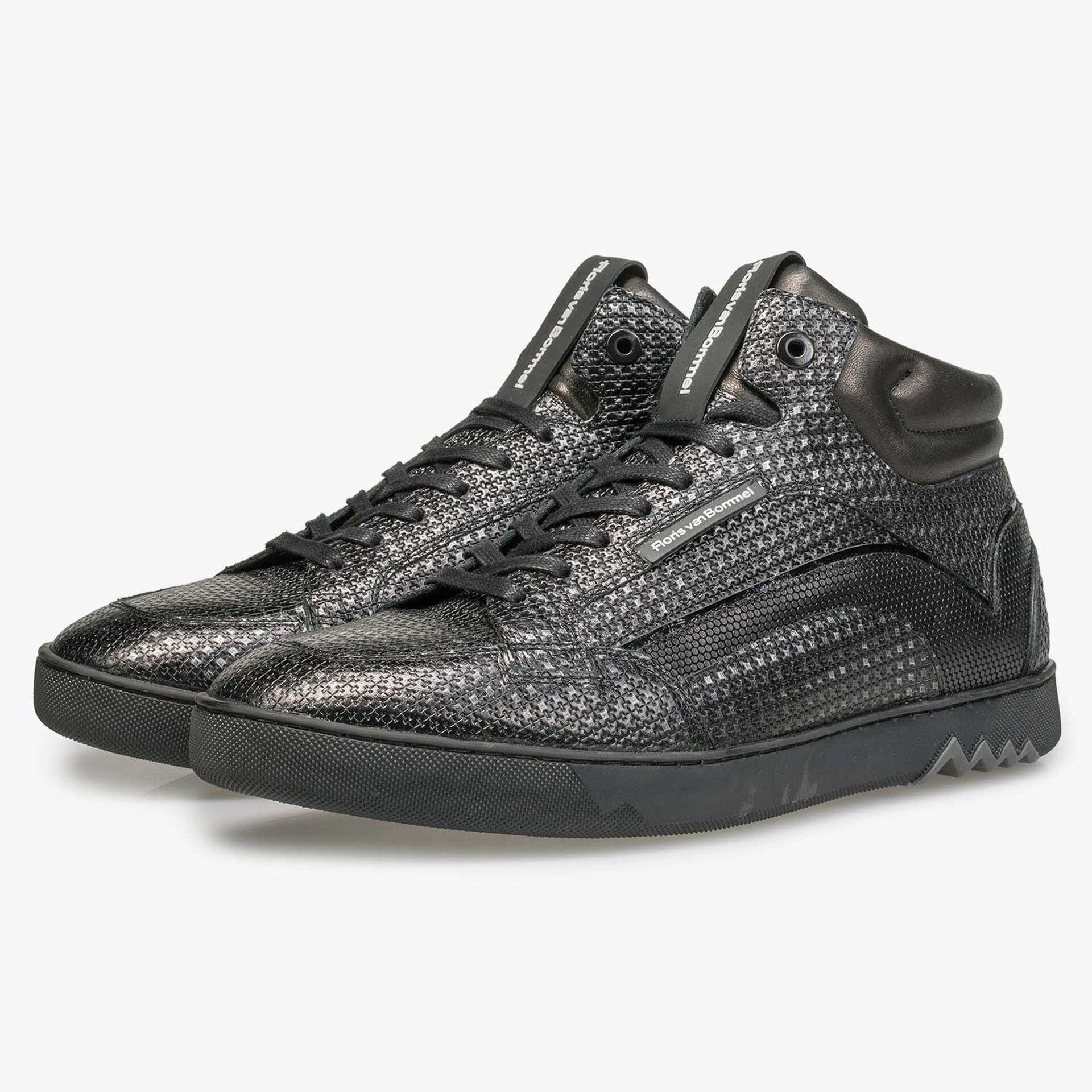 Mid-high silver-coloured sneaker