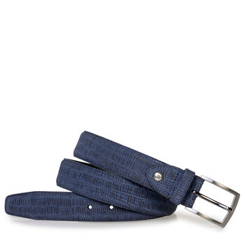 Belt with print dark blue