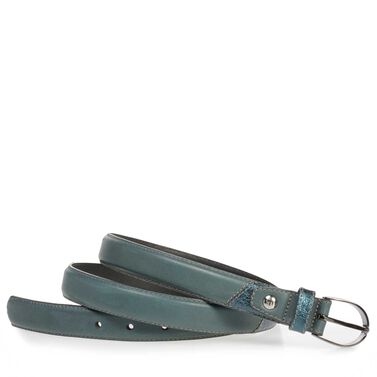 Leather belt with pony hair