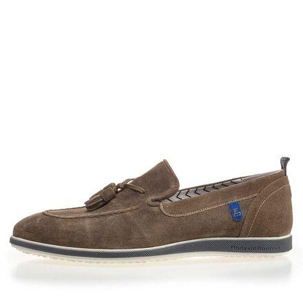 Suede leather tassel loafer