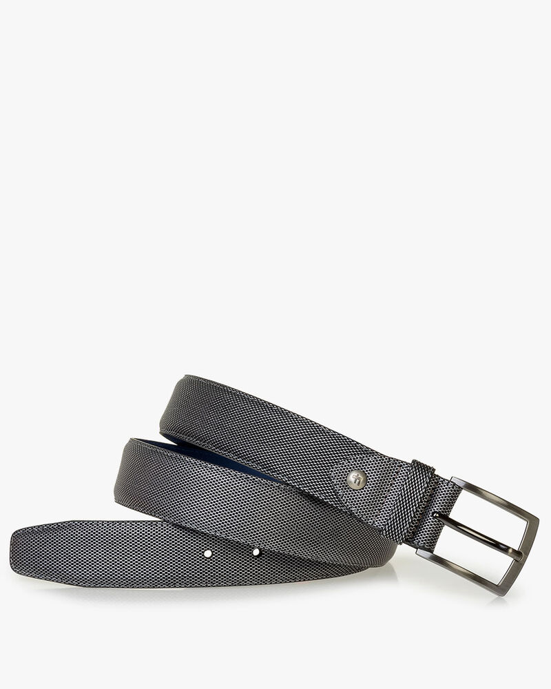 Belt metallic print grey