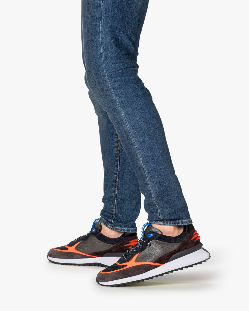 Sharki sneaker grey/orange