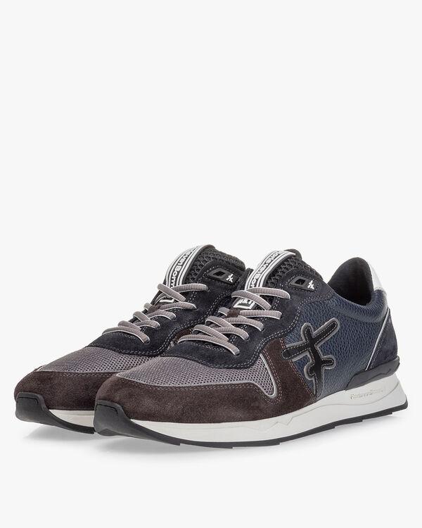 Sneaker suede blue/green