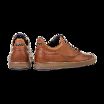 Sneaker kalfsleer cognac
