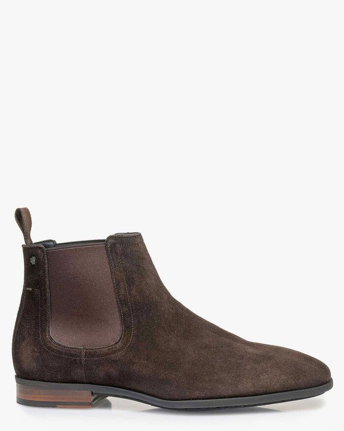 Chelsea boot suede leather brown