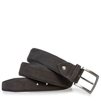 Belt nubuck leather black