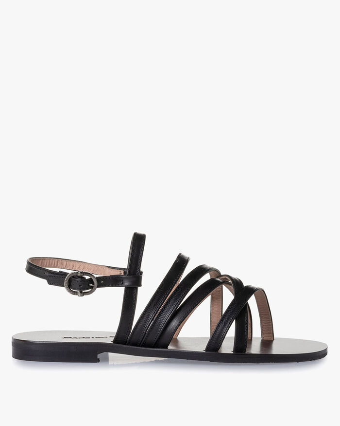 Sandaal kalfsleer zwart