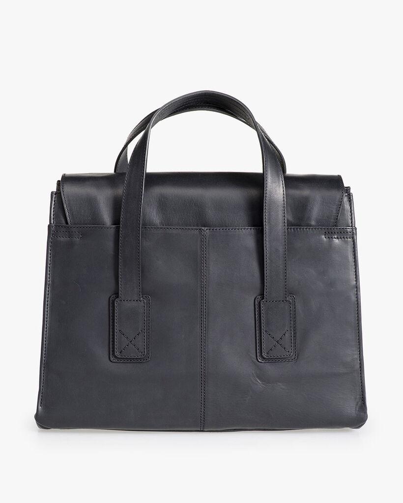 Black leather business bag