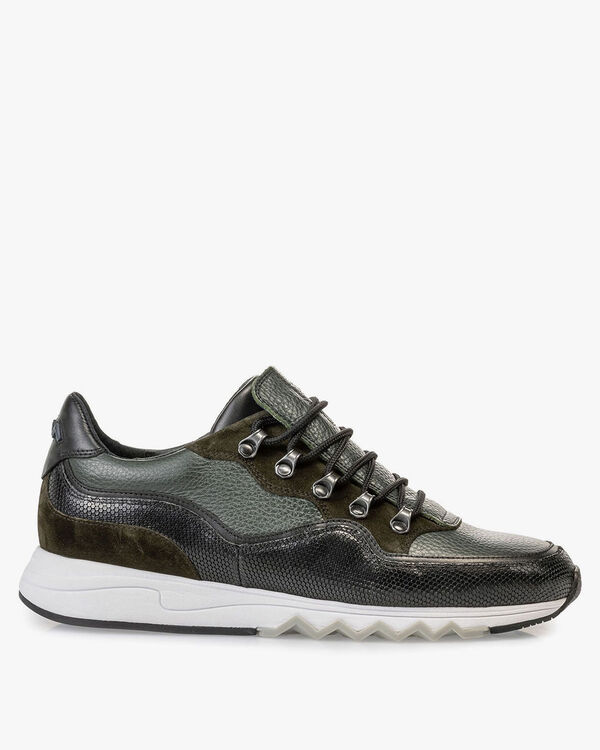 Sneaker leather green