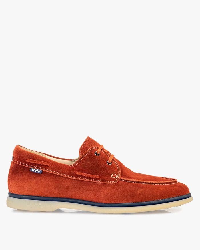 Bootschoen suède oranje
