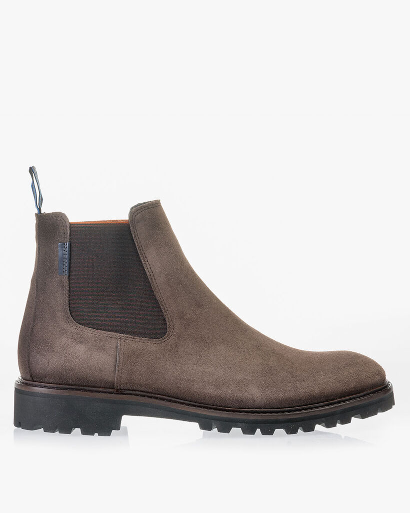 Chelsea boot suède taupe