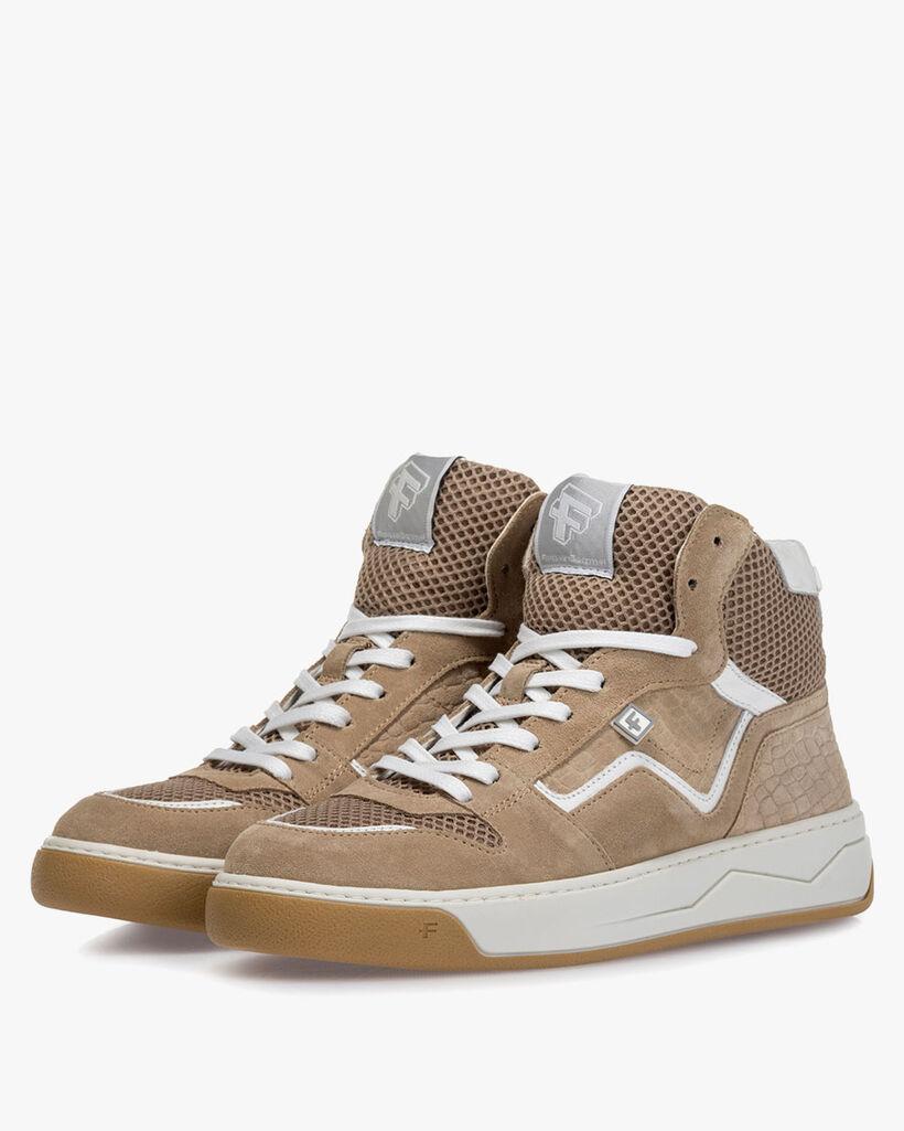 Sneaker suede leather beige