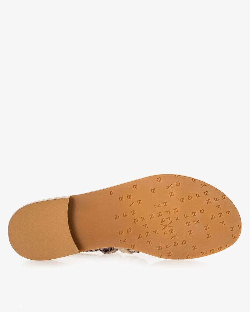 Sandal printed leather pink