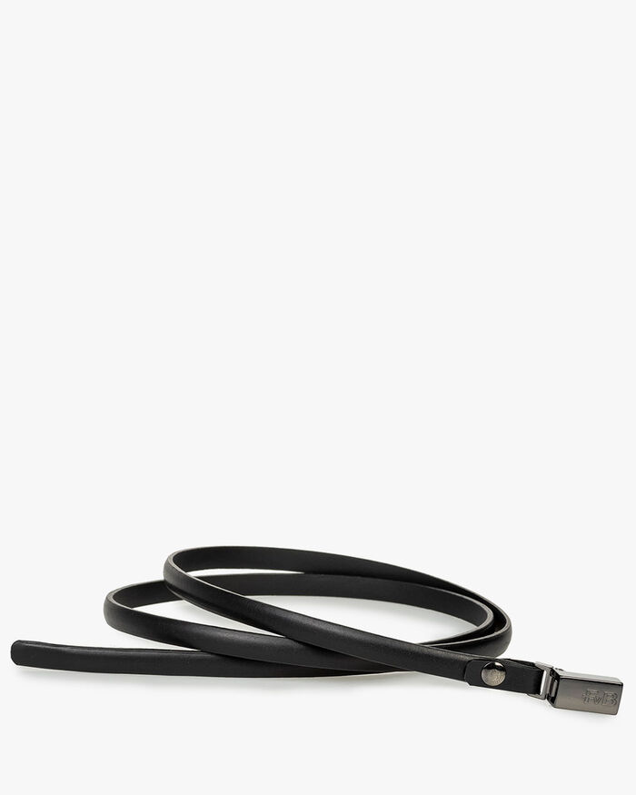 Belt calf leather black