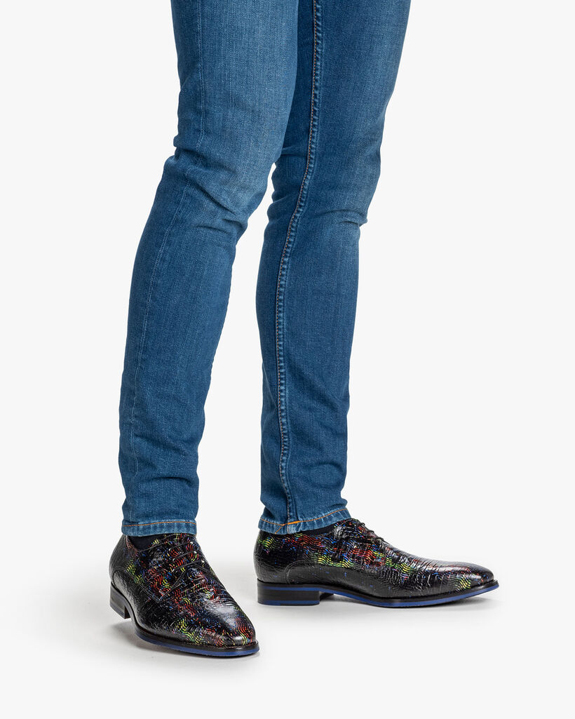 Lace shoe multi-colour