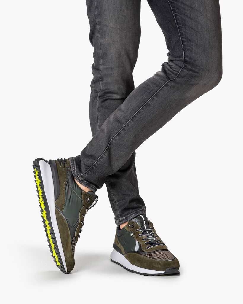 Sharki sneaker suede dark green