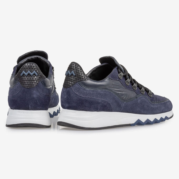 Sneaker with print dark blue