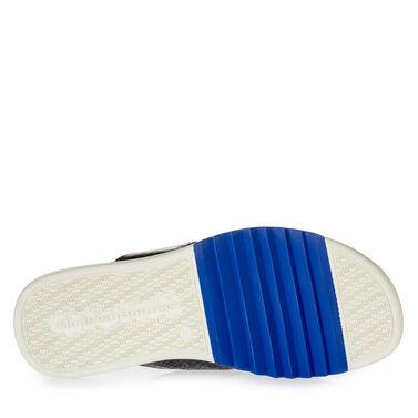 Printed leather slipper