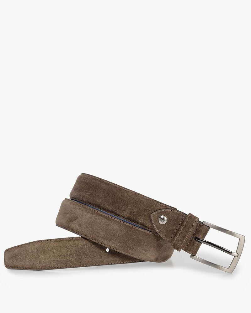 Suède riem donker taupe