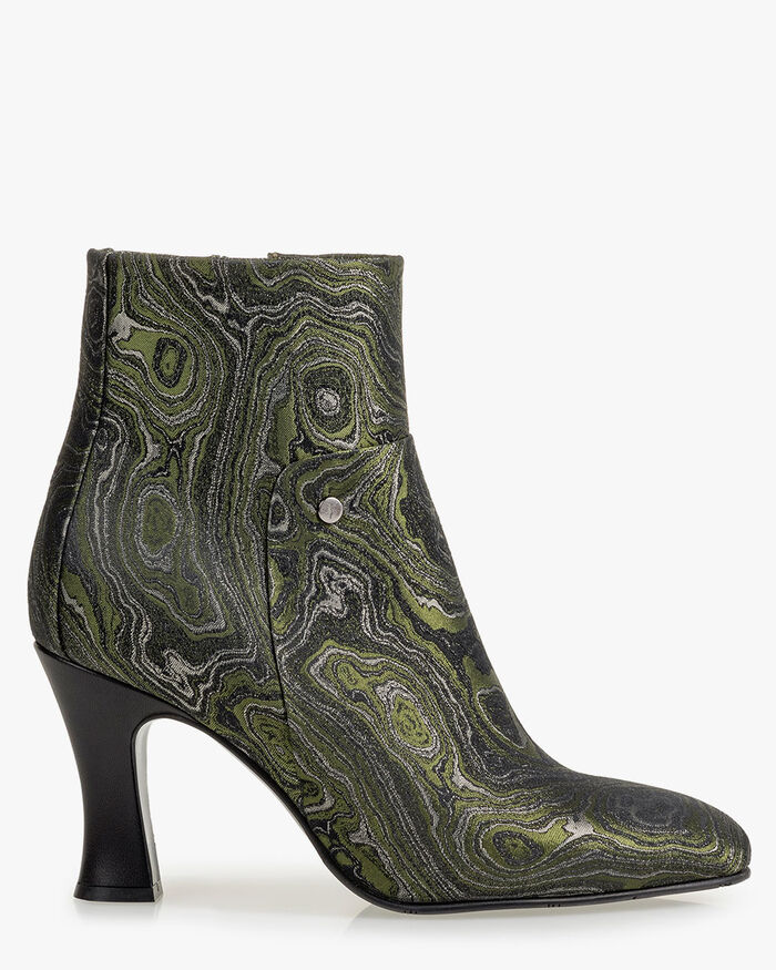 Ankle boot print green