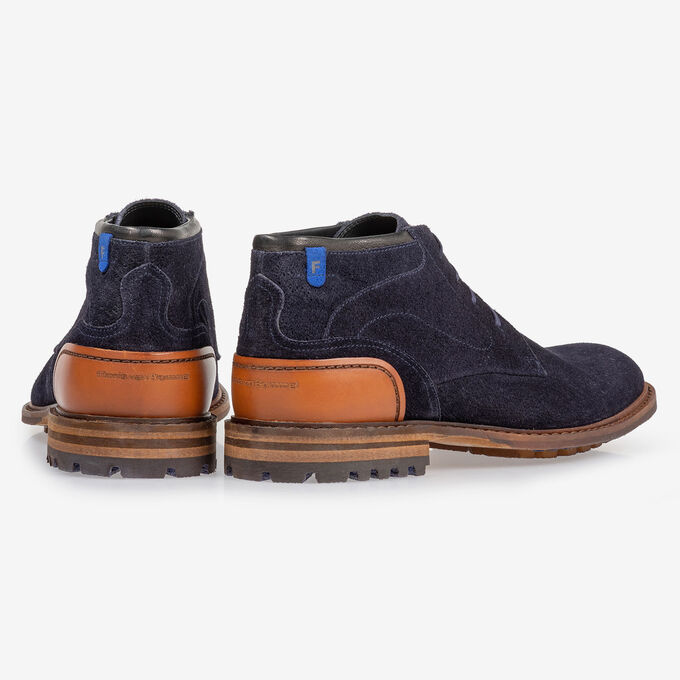 Crepi boot blauw suède
