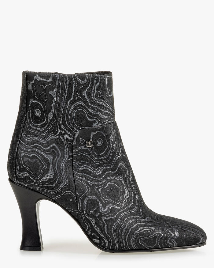 Ankle boot print black