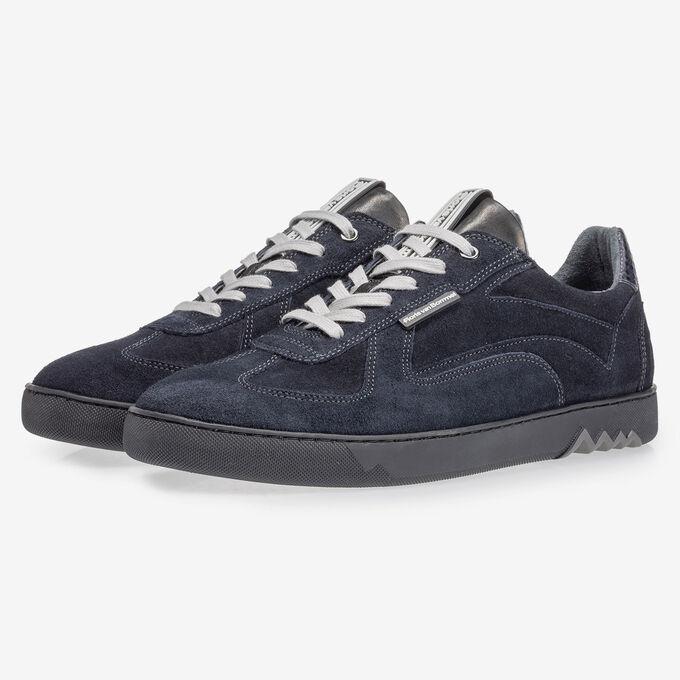 Sneaker donkerblauw suède
