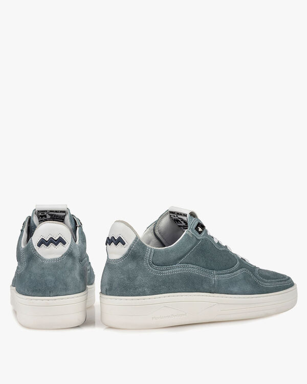 Sneaker suede leather turquoise