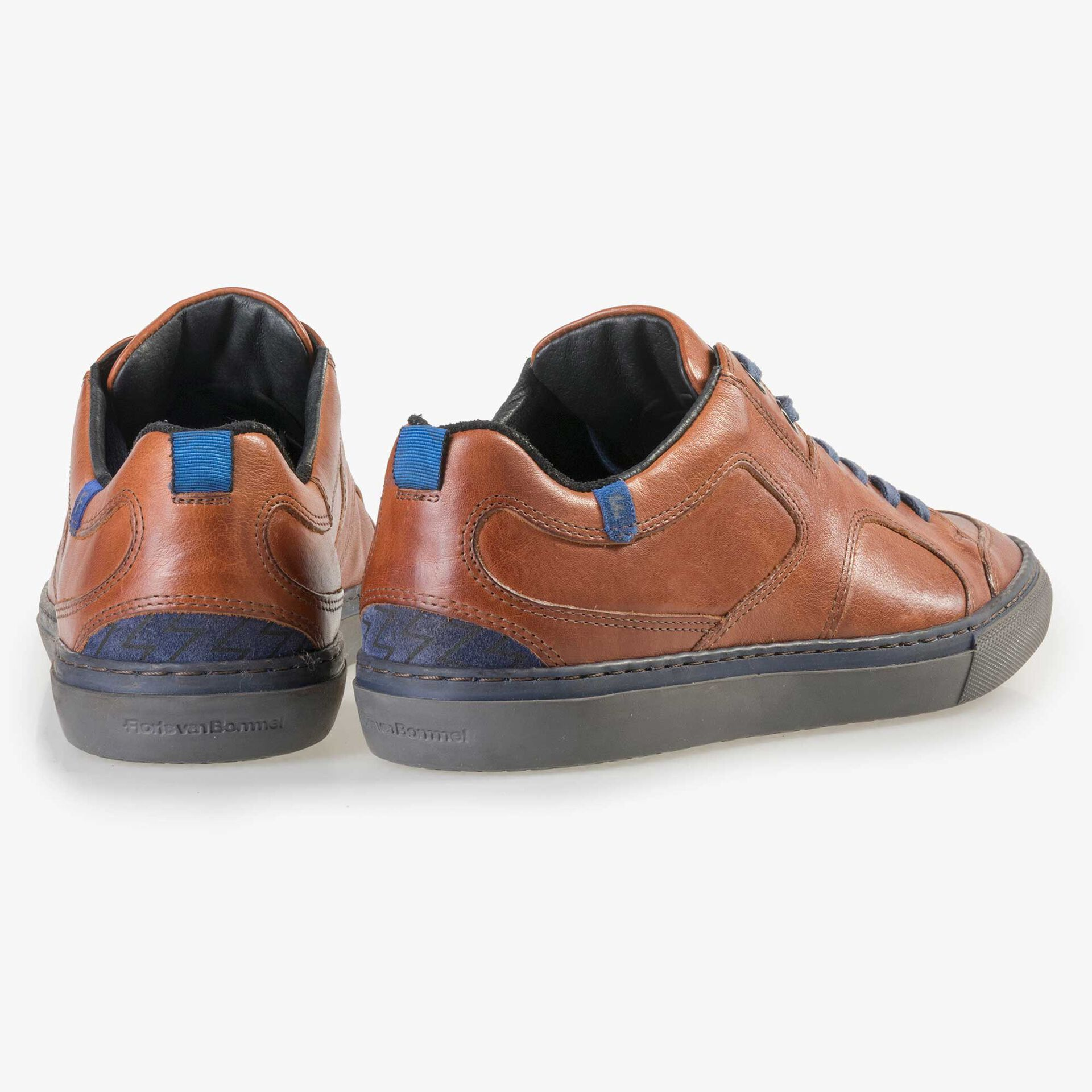 Floris van Bommel men's cognac-coloured leather sneaker