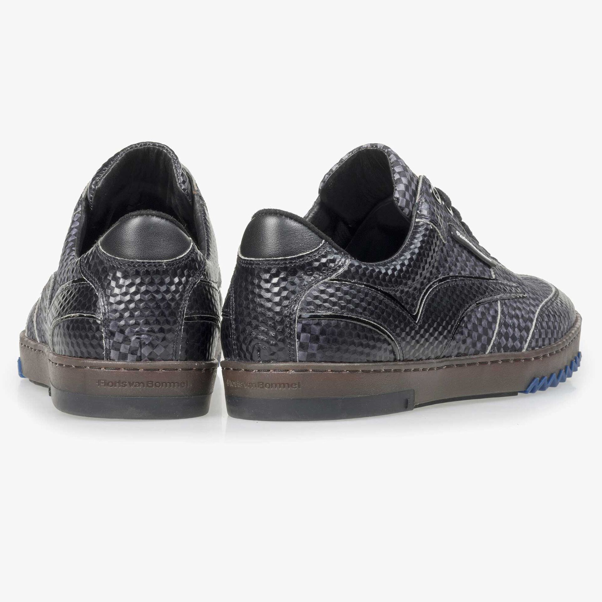Floris van Bommel men's grey sneaker finished with a black print