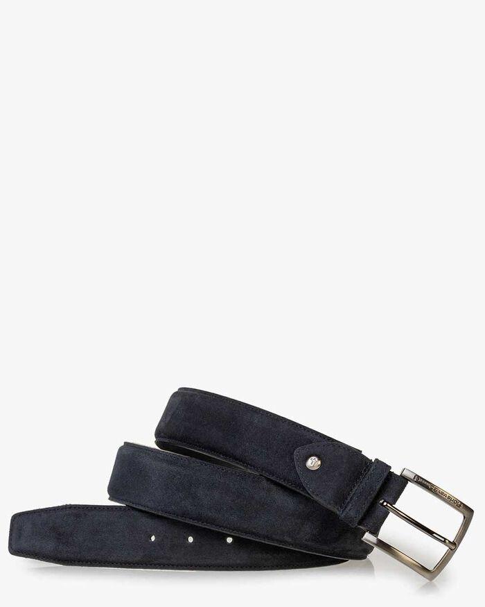 Belt dark blue suede