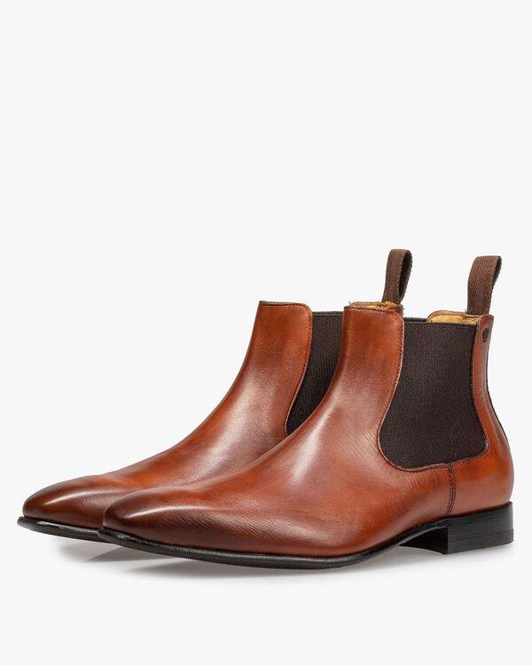 Leather Chelsea boot dark cognac