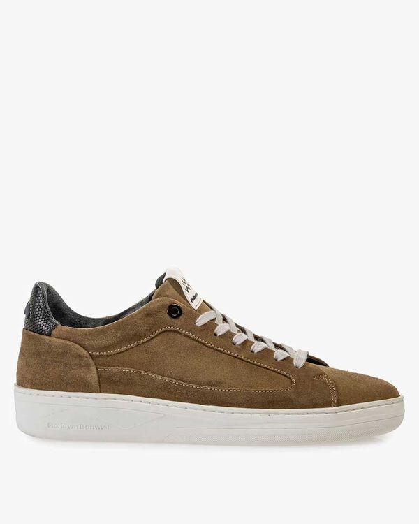 Sneaker beige suède